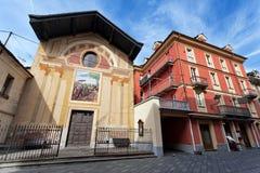 Città Vecchia di Aosta, Italia Immagini Stock Libere da Diritti