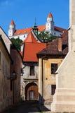 Città Vecchia di architettura storica di Bratislava Fotografia Stock