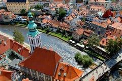 Città Vecchia di Cesky Krumlov Fotografie Stock Libere da Diritti