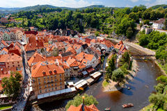 Città Vecchia di Cesky Krumlov Fotografia Stock