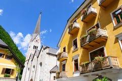 Città Vecchia di Hallstatt in Austria Fotografia Stock Libera da Diritti