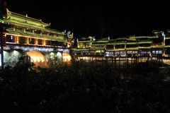 Città Vecchia di Phoenix; città antica del fenghuang immagine stock libera da diritti