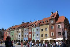 Città Vecchia di Poznan Fotografia Stock