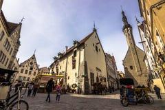 Città Vecchia di Talinn, Estonia immagini stock libere da diritti