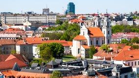 Città Vecchia di Vilnius Fotografia Stock