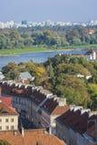 Città Vecchia, distretto di Mariensztat a Varsavia immagine stock libera da diritti