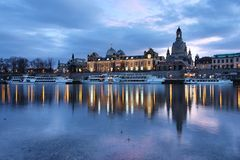 Città Vecchia Dresda - in Germania Fotografia Stock