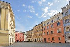 Città Vecchia a Lublino, Polonia Fotografia Stock Libera da Diritti