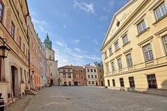 Città Vecchia a Lublino, Polonia Fotografia Stock