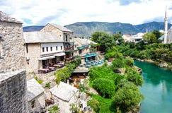 Città Vecchia a Mostar fotografie stock libere da diritti