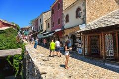 Città Vecchia a Mostar Fotografia Stock Libera da Diritti
