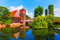 Città Vecchia a Norimberga, Germania Fotografie Stock