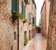 Città Vecchia Pienza in Toscana fotografia stock