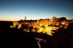 Città Vecchia Pitigliano, Toscana, Italia fotografia stock