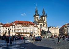 Città Vecchia quadra lo stà del› del mÄ del ¡ del nà dello stské del› di StaromÄ, Praga fotografie stock libere da diritti