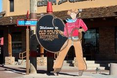 Città Vecchia Scottsdale, Arizona Immagini Stock