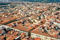Città veduta dalla cima del duomo, Italia di Firenze Fotografie Stock