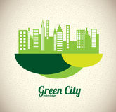 Città verde Fotografia Stock Libera da Diritti