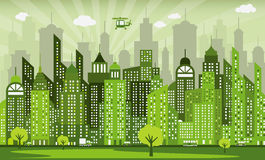 Città verde Fotografia Stock