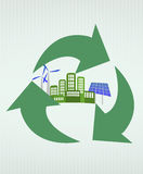 Città verde Immagini Stock Libere da Diritti