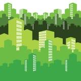 Città verde, illustrazione, priorità bassa illustrazione vettoriale