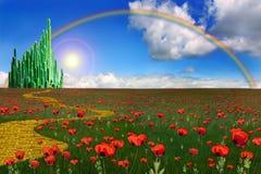 Città verde smeraldo Fotografie Stock