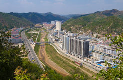 Città yanan Shanxi Cina di Ansai Immagine Stock