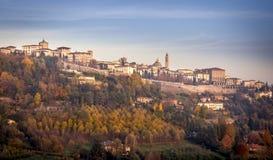 Cittàalta di Bergamo Arkivbild