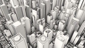 Città aerea Fotografie Stock