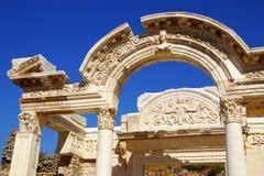 Città antica di Ephesus, Turchia Fotografia Stock