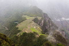 Città antica di inca di Machu Picchu Fotografia Stock