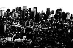 Città astratta Fotografia Stock Libera da Diritti