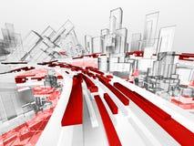 Città astratta futura Fotografia Stock Libera da Diritti