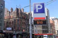 Città che parcheggia Melbourne Australia Fotografia Stock