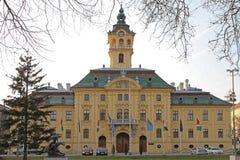 Citt? corridoio di Szeged immagini stock