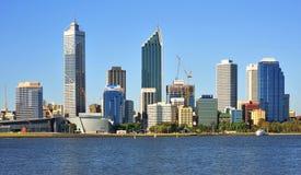 Città dell'Australia della vista panoramica di Perth Immagini Stock