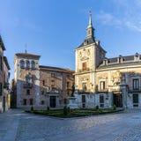 Città della costruzione di Madrid al posto della villa a Madrid Immagine Stock