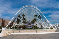Citt? delle arti e delle scienze a Valencia, Spagna immagine stock libera da diritti