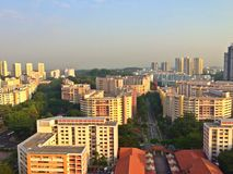 Città di Bukit Batok, Singapore Fotografia Stock Libera da Diritti
