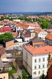 Città di Chelmno della vista aerea della Polonia Fotografie Stock Libere da Diritti