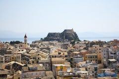 Città di Corfù, Grecia Fotografie Stock Libere da Diritti
