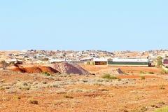 Città di estrazione mineraria di vista panoramica, Australia Fotografie Stock
