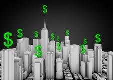 Città di finanze Immagini Stock