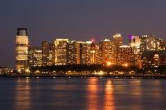 Città di Jersey e di Hoboken Fotografie Stock