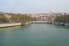 Città di Lione Fotografia Stock