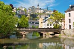 Città di Lussemburgo ad un giorno di estate Fotografie Stock Libere da Diritti