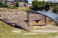 Citt? di Ocrida, teatro antico Fotografia Stock Libera da Diritti