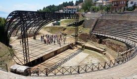 Citt? di Ocrida, teatro antico Immagini Stock Libere da Diritti