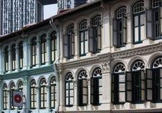 Citt? di Singapore Cina, Windows Immagine Stock Libera da Diritti