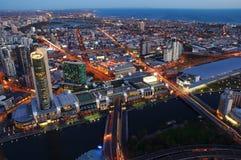 Città dopo oscurità Fotografia Stock Libera da Diritti